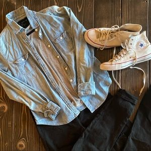 American Eagle Outfitters Tops - Chambray Shirt